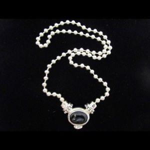 Joseph Esposito Sterling 925 Onyx Amber Necklace